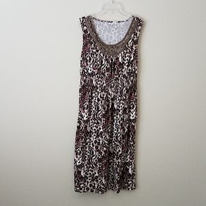 Charter Club Animal Print Dress Size Small
